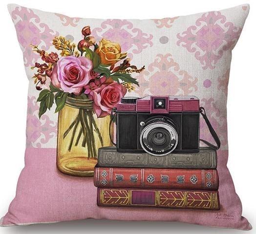 Linen Cushion Cover View Camera 1