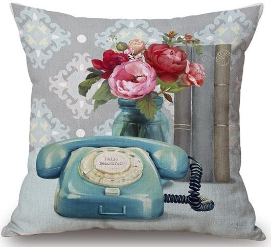 Linen Cushion Cover View Telephone 1