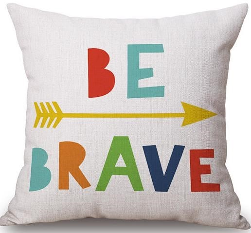 Linen Cushion Cover Be Brave 1