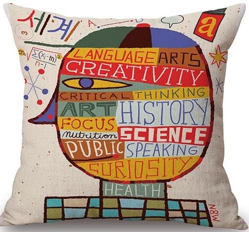 Linen Cushion Cover Life Lesson 1
