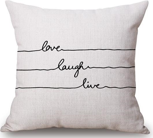 Linen Cushion Cover Love Lough Live 1