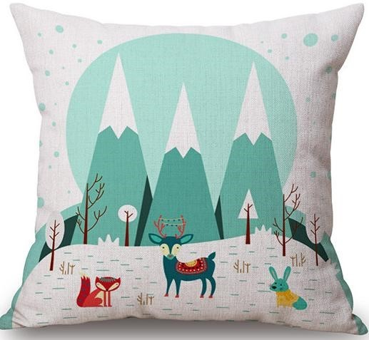 Linen Cushion Cover Forest 1
