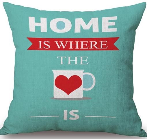 Linen Cushion Cover Home Is Where The Love Is 1