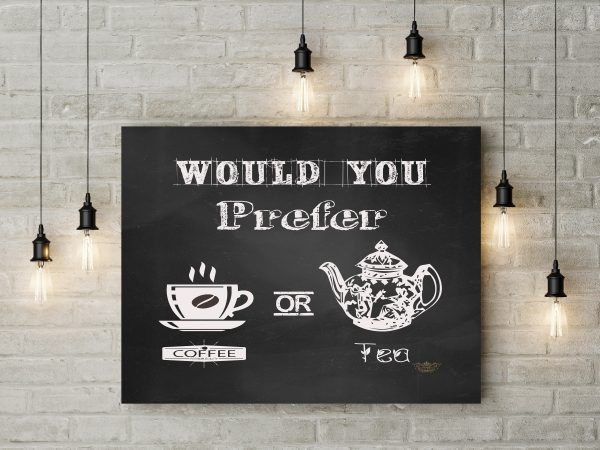 Chalkboard Coffee Or Tea 1